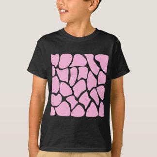 Giraffe Print Pattern in Candy Pink. T-Shirt