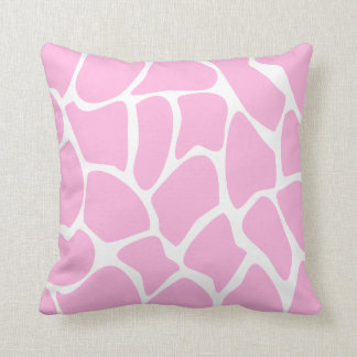 Giraffe Print Pattern in Candy Pink. Throw Pillow