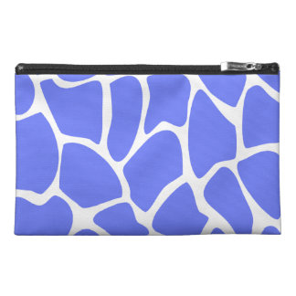 Giraffe Print Pattern in Cornflower Blue Travel Accessories Bags