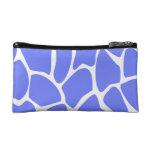 Giraffe Print Pattern in Cornflower Blue. Makeup Bags