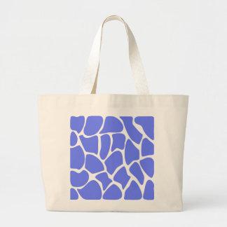 Giraffe Print Pattern in Cornflower Blue Bags