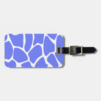 Giraffe Print Pattern in Cornflower Blue. Bag Tag