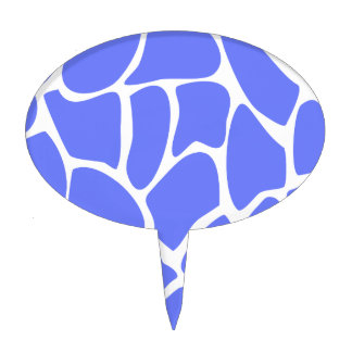 Giraffe Print Pattern in Cornflower Blue. Cake Topper
