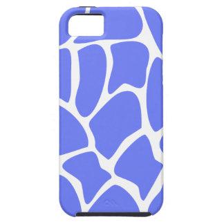 Giraffe Print Pattern in Cornflower Blue. iPhone 5 Covers