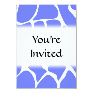 Giraffe Print Pattern in Cornflower Blue. 5x7 Paper Invitation Card