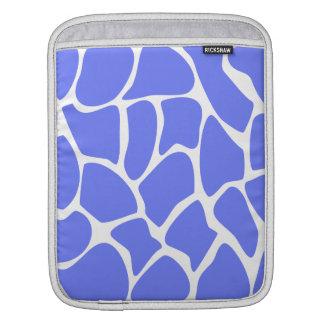 Giraffe Print Pattern in Cornflower Blue. iPad Sleeve