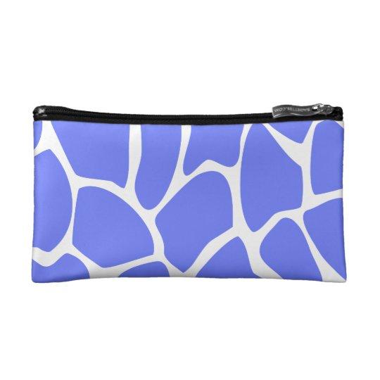 Giraffe Print Pattern in Cornflower Blue. Makeup Bag