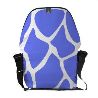 Giraffe Print Pattern in Cornflower Blue Messenger Bag