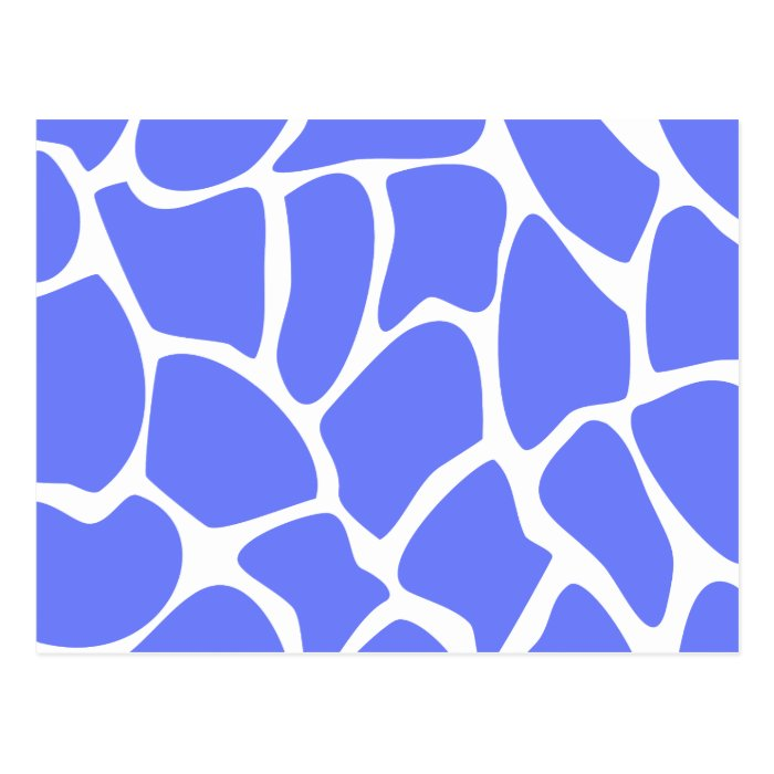 Giraffe Print Pattern in Cornflower Blue. Postcard