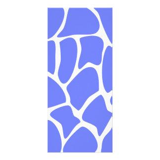 Giraffe Print Pattern in Cornflower Blue. Rack Card Template