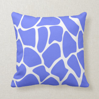 Giraffe Print Pattern in Cornflower Blue. Throw Pillow