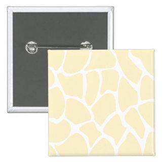 Giraffe Print Pattern in Cream Color. 2 Inch Square Button