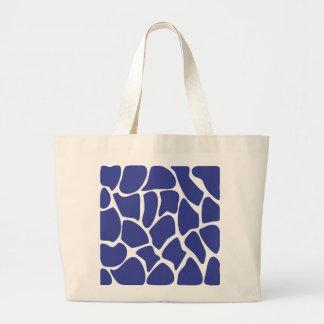 Giraffe Print Pattern in Dark Blue Bags