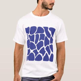 Giraffe Print Pattern in Dark Blue. T-Shirt