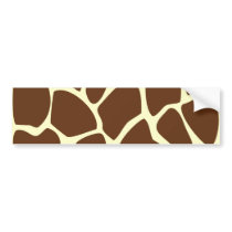 Giraffe Print Pattern in Dark Brown. Bumper Sticker