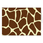 Giraffe Print Pattern in Dark Brown. Greeting Cards
