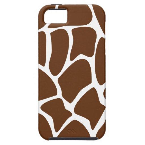 Giraffe Print Pattern in Dark Brown. iPhone 5 Cover