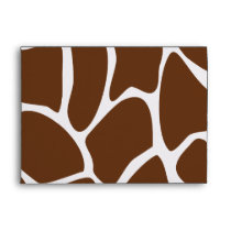 Giraffe Print Pattern in Dark Brown. Envelope