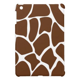 Giraffe Print Pattern in Dark Brown. iPad Mini Cover
