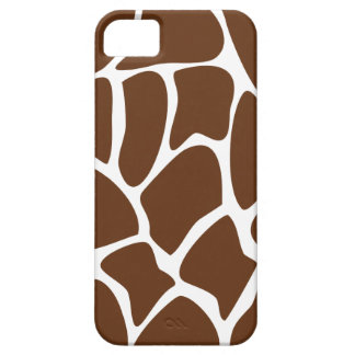 Giraffe Print Pattern in Dark Brown. iPhone SE/5/5s Case