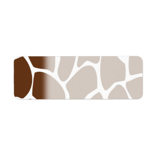 Giraffe Print Pattern in Dark Brown. Label