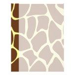 Giraffe Print Pattern in Dark Brown. Customized Letterhead