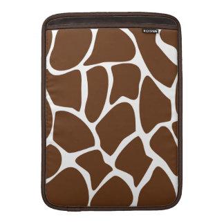 Giraffe Print Pattern in Dark Brown. MacBook Sleeve