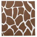 Giraffe Print Pattern in Dark Brown. Napkins