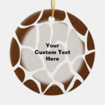 Giraffe Print Pattern in Dark Brown. Ornaments