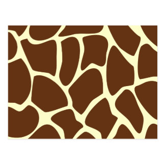 Giraffe Print Pattern in Dark Brown. Postcard