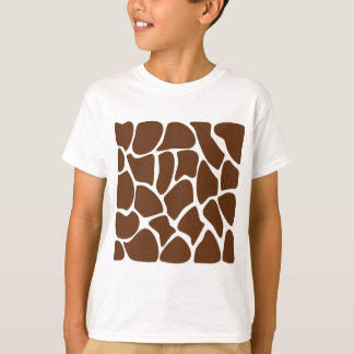 Giraffe Print Pattern in Dark Brown. T-Shirt