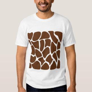 Giraffe Print Pattern in Dark Brown. Tee Shirt