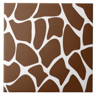 Giraffe Print Pattern in Dark Brown Tile