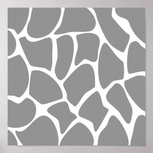 Giraffe Print Pattern in Gray.