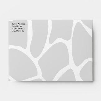 Giraffe Print Pattern in Gray. Envelope