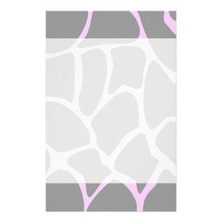 Giraffe Print Pattern in Gray. Flyer Design