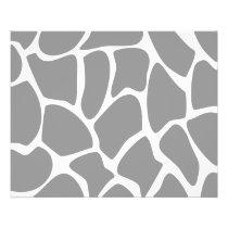 Giraffe Print Pattern in Gray. Flyer