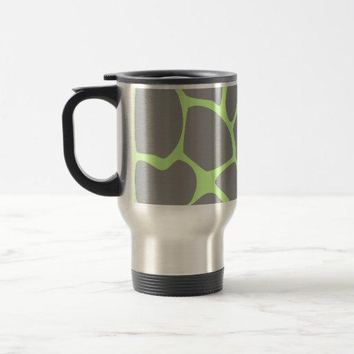 Giraffe Print Pattern in Gray. 15 Oz Stainless Steel Travel Mug
