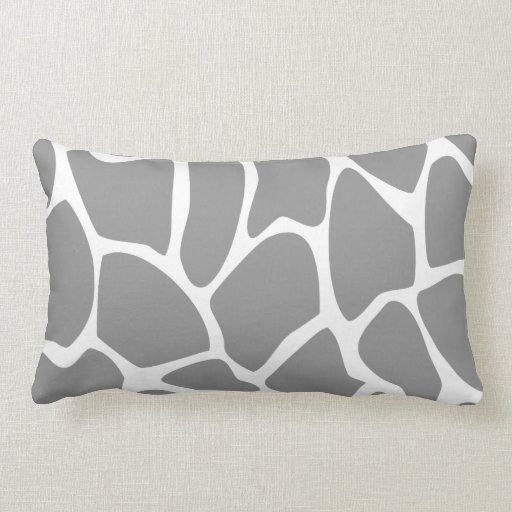Giraffe Print Pattern in Gray. Pillows