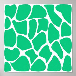 Giraffe Print Pattern in Jade Green.