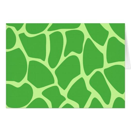 Giraffe Print Pattern in Jungle Green. Card