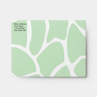 Giraffe Print Pattern in Jungle Green. Envelopes