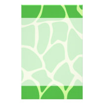 Giraffe Print Pattern in Jungle Green. Flyer