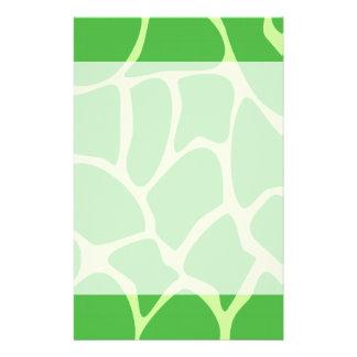 Giraffe Print Pattern in Jungle Green. Full Color Flyer