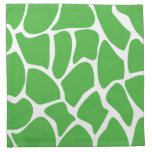 Giraffe Print Pattern in Jungle Green. Napkins