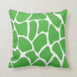 Giraffe Print Pattern in Jungle Green. Throw Pillow