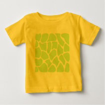 Giraffe Print Pattern in Light Lime Green. Baby T-Shirt