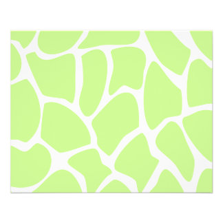 Giraffe Print Pattern in Light Lime Green. Flyer