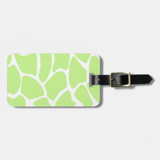 Giraffe Print Pattern in Light Lime Green. Tag For Bags