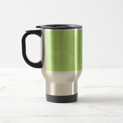 Giraffe Print Pattern in Light Lime Green. Mugs